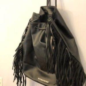 Victoria secret black backpack purse